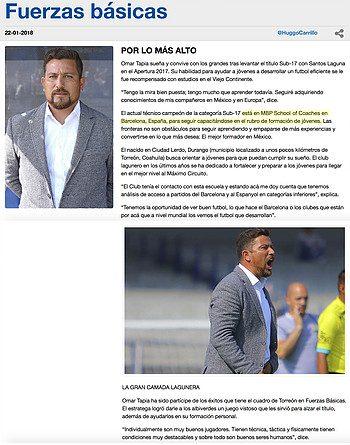 Revista Liga MX Bancomer - Roberto Omar Tapia